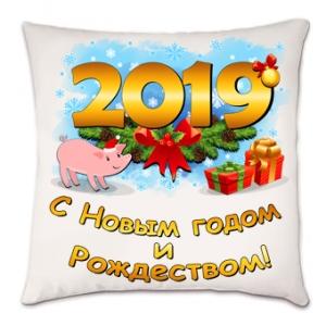 4858a75b5257 Подушка на Новый год 2019 со свиньей. - Подарки, сувениры, пазлы ...