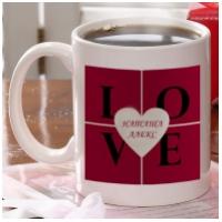 Чашка с Вашими именами - LOVE
