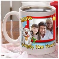 Чашка с Вашей фотографией и собакой