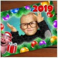 Детские новогодние пазлы с Вашим фото